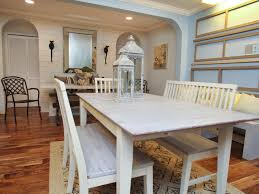 photo page hgtv cottage dining room with whitewashed table benches