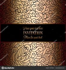 Wallpaper Invitation Card Abstract Background With Antique Luxury Black And Gold Vintage