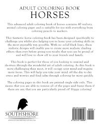 amazon com coloring book horses advanced realistic horses