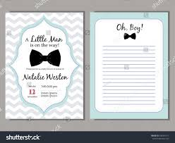 Baby Welcome Invitation Cards Templates Baby Shower Vector Blue Invitation Template Stock Vector 436541611