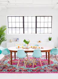 Modern Colorful Living Room Furniture A Joyful And Modern Dining Room For Summer Decorating Modern