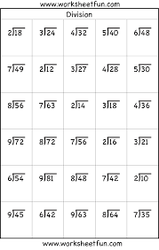 4th grade math worksheets division worksheets