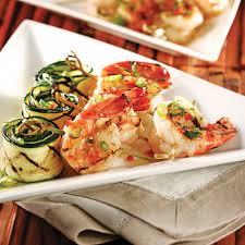 cuisine crevette crevettes grillées et courgettes marinées recettes cuisine et