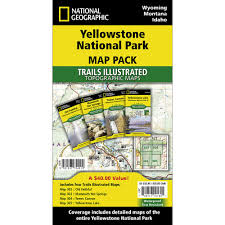 Yellowstone Park Map Yellowstone National Park Trail Maps Map Pack Bundle National