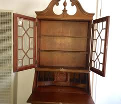 vintage mahongany display cabinet secretary desk ca 1900