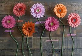 gerbera daisies make your own paper gerbera daisies how to make a paper flower