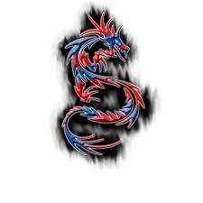 the tribal tattoo women tribal dragon tattoo full colour style
