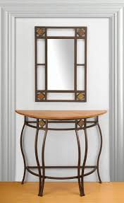 console table console table with mirror modern and set in black