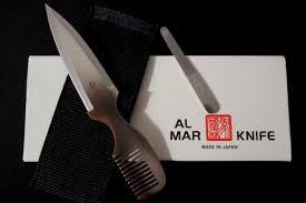 vintage new in box al mar 7003 wild hair comb dagger knife old