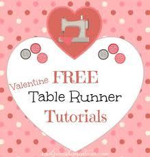 valentine s day table runner 10 free valentine s day table runner tutorials table runner