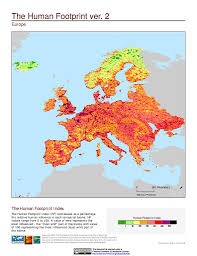 Europe Asia Map Maps Global Human Footprint Geographic V2 Sedac