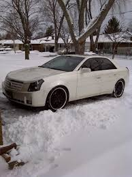 white cadillac cts black rims 07 cts 20 s or 22 s