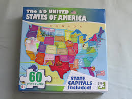 usa map jigsaw puzzle by hamilton grovely 2 2010 the 50 united states of america jigsaw puzzle 60 pieces