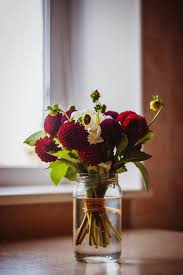 Flowers Glass Vase Red Petal Flower On Clear Glass Vase Free Stock Photo