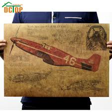online get cheap wall decorations stickers aliexpress com retro vintage fighter air plane poster living room kraft paper wall decorative stickers creative home decor