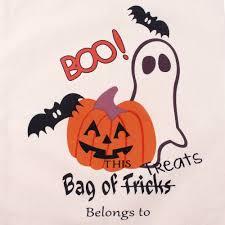 pumpkin trick or treat bag halloween decorations and i