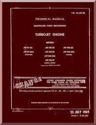 j47 aircraft jet engine illustrated parts manual 2j j47 24