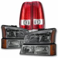2004 silverado led tail lights chevy silverado 2500 2003 2004 smoked headlights and led tail lights