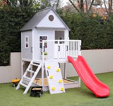 emerson cubby house w sandpit climbing wall u0026 slide wooden