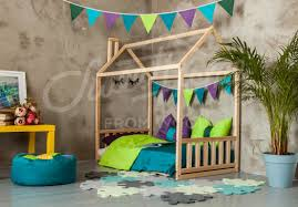 wood house baby bed floor bed frame bed toddler bed house