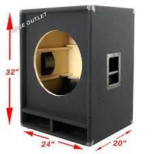 empty plastic speaker cabinets greg s pro audio 1x18 empty bass speaker cabinet 24 wx20 dx32 h