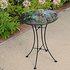 Patio Furniture Glass Table Overstock Wrought Iron Glass Topped Looping Side Table