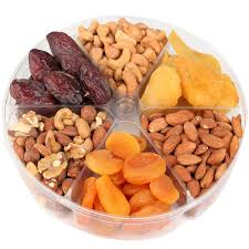 fruit and nut gift baskets 6 section dried fruit nut tray dried fruit gift baskets