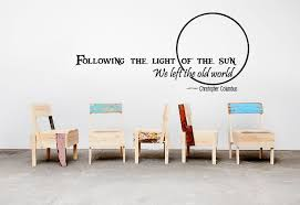 famous quotes bedroom wall stickers bargains zone follow the sun quote wall decal living room sticker graphics