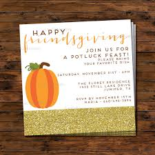 friendsgiving thanksgiving potluck dinner invitation
