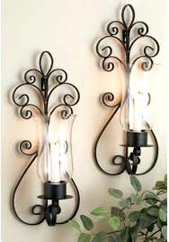 Wrought Iron Candle Wall Sconces Large Candle Holders For Fireplace Sconce Wrought Iron Wall Candle