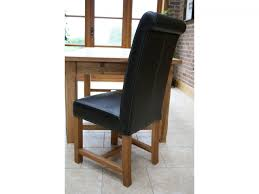 Coloured Leather Dining Chairs Solid Oak Dining Chairs