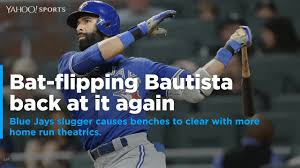 mlb bautista gets best of unwritten rules as blue jays rout braves