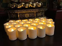 fake tea light candles amazon com flameless led tea light candles magicpro battery