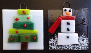 fused glass snowflakes and ornaments make your own