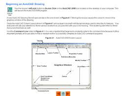 beginning an autocad drawing ppt download