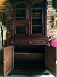 Gothic Cabinet Dresser Antique French Cabinet Cupboard Dresser Bookcase Oak Carved Gothic