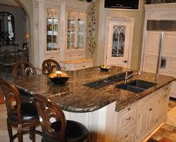 Kitchen Island Countertop Overhang Kitchen Alluring Granite Top Kitchen Island Unit Satisfactory