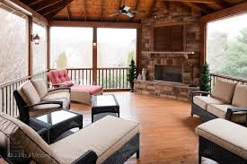 Exceptional Simple Covered Patio Designs Part 3 Exceptional by A Small Extension Off This Screened Porch Contains A Captured