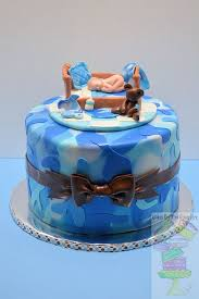 camo baby shower blue camo baby shower cake cakecentral