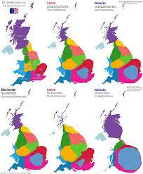 cartogram map the eu referendum views of the