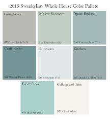 color palette for home interiors sherwin williams whole house color palette search
