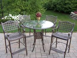 Glass Patio Table And Chairs Outdoor Garden Rustic Patio Furniture Set Comprising