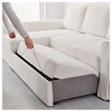Sofa Bed Chaise Lounge by Backabro Sofa Bed With Chaise Longue Hylte White Ikea