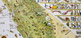map of california california map society