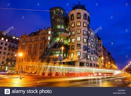Frank Gehry by Dancing House Aka Fred And Ginger Building By Frank Gehry In