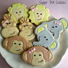 sugar dot cookies jungle animal cookies