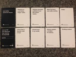 words against humanity cards inside one of cards against humanity s rarest packs cards