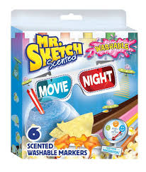 mr sketch 6 color scented washable marker movie night color