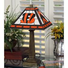 cincinnati bengals stained glass mission style table lamp sports