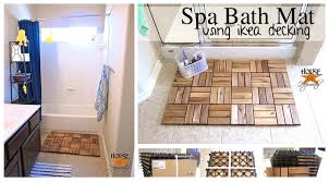 Bath Mat Wood Awesome Ikea Hack Of The Week An Unbelievably Easy Spa Inspired